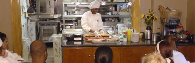 Chef giving a demonstration